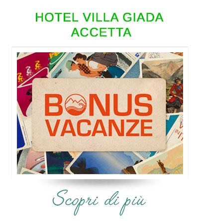 Hotel Villa Giada Marina di Massa accetta il bonus vacanza 2020