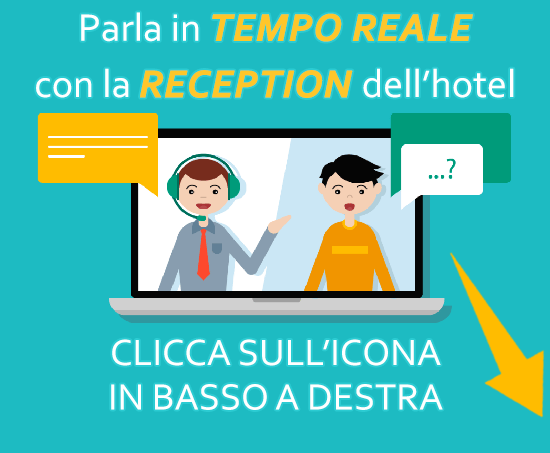 Comunica in tempo reale con la Reception dell'hotel