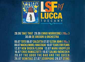Lucca Summer Festival 2019, events Lucca