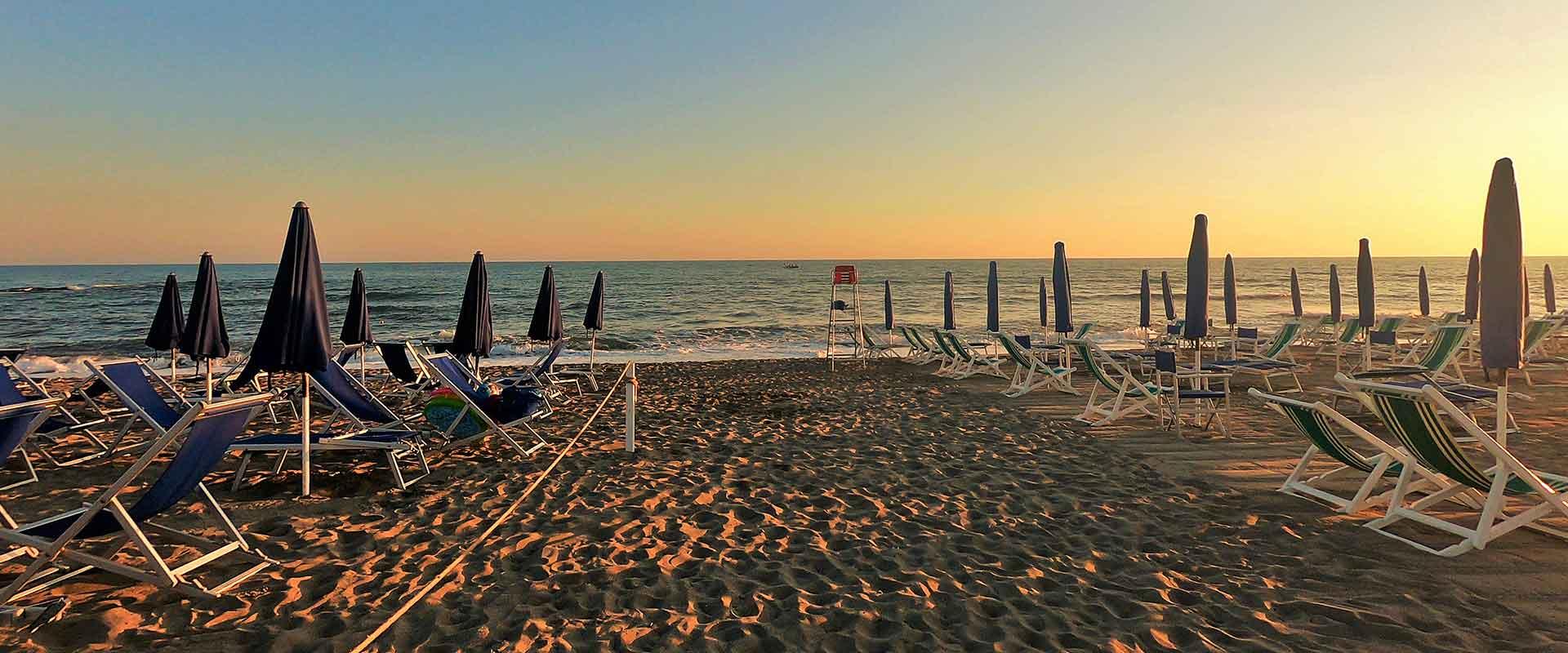 Marina di Massa in Tuscany dove si trova Hotel Villa Giada